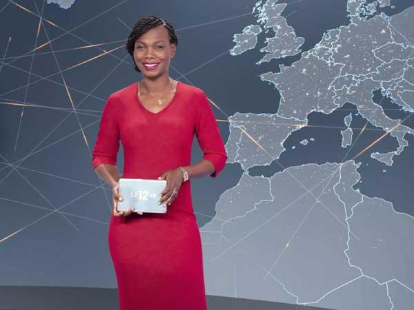 Karine Guiock présente le journal sur m6